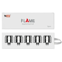 Yocan - Flame Quartz Dual Coil - Pack of 5 (MSRP $29.99)