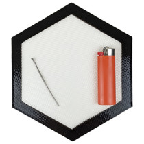 """4"""" Silicone Hexagon Mat - Single (MSRP $5.00)"""