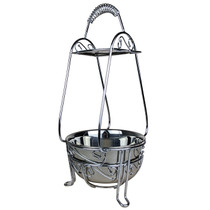 """15"""" Charcoal Wire Basket - Large (MSRP $40.00)"""