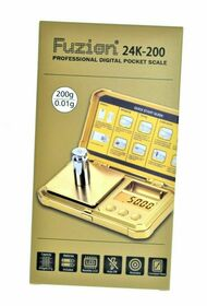 Fuzion - 24K-200 Gold Scale - 200g x 0.01g (MSRP $25.00)