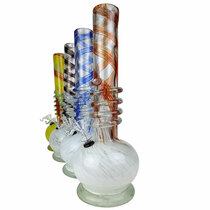 """14"""" Round Bottom Twist Grip Soft Glass - with Funnel Slider (MSRP $45.00)"""