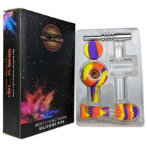 On Point Glass - Assorted 4in1 Silicone Spoon Nectar Collector Box Set - with 18M Titanium Tip (MSRP $40.00)