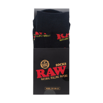 RAW® - Black Socks - Single Pair (MSRP $15.00)