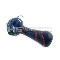 """4"""" FUMED & ART WORK POINTED HEAD HAND PIPE(Individual Assorted)"""