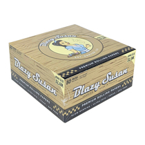 Blazy Susan® - Unbleached King Size Slim Rolling Papers (50ct) - Display of 50 (MSRP $2.50ea)