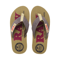RAW® X Rolling Papers - Red & Brown Ladies Sandals (Mixed Size 6-10) - Case of 6 (MSRP $55.00ea)