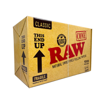 RAW® - Classic Pre-Roll Cones 1¼ (BULK) - Box of 1000 (MSRP $200.00)