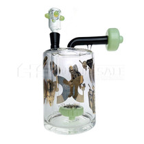 "8"" Dank Glass Money Jar Water Pipe - with 14M Bowl & 4mm Banger (MSRP $135.00)"