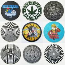 "DabPadz By Kill Your Culture 8"" Round Fabric Top Rubber DabPadz (Series 2) *Drop Ship* (MSRP $9.99)"