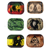 Small Metal Rolling Tray Set Of 5 (MSRP $8.00ea)