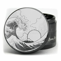 "4 Piece 2.5"" Tsunami Wave Grinder By Green Star *Drop Ship* (MSRP $26.99)"