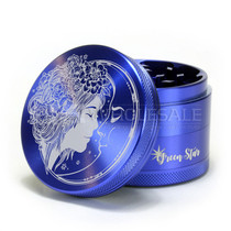 """4 Piece 2.5"""" Fairy Moon Design Grinder By Green Star *Drop Ship* (MSRP $44.99)"""