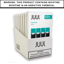 JUUL Pods 5% 4-Pack Non-Flavor | Display of 8 (MSRP $15.99ea)