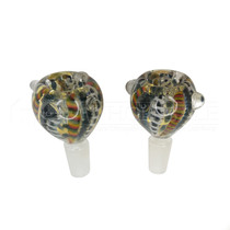 Glass On Glass Inside Out Bowl - 2 Pack - Multiple Styles - 14mm Male (MSRP $7.00ea)