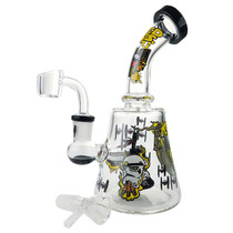 "7"" Art Design Rig Water Pipe - with 14M Bowl & 4mm Banger (MSRP $95.00)"