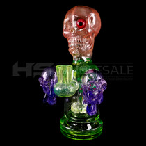 "Cheech Glass - 9.5"" Skull Perc Water Pipe (MSRP $225.00)"