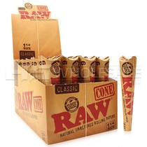 RAW - Unrefined Pre-Roll Cone 1 1/4 32/6PK