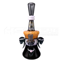 On Point Glass - 4 Skull Water Pipe (MSRP $140.00)