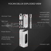 Yocan - Delux 2 in 1 450mAh/1500mAh Vaporizer and Power Bank Kit (MSRP $50.00)