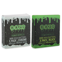 Ooze - 650mAh 510 Carto Battery - 5 Pack (MSRP $11.99ea)