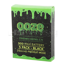 Ooze - 900mAh 510 Carto Battery - 5 Pack (MSRP $12.99ea)