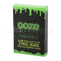 Ooze - 1100mAh 510 Carto Battery - 5 Pack (MSRP $13.99ea)