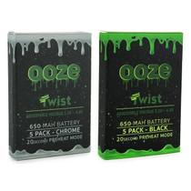 Ooze - 650mAh Twist 510 Carto Battery - 5 Pack (MSRP $15.99ea)
