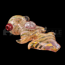 Gold Fumed Spike Work Honey Comb Spoon (MSRP $20.00)