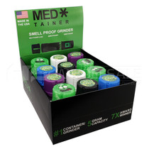 Med Tainer Grinder - Display of 12 (MSRP $20.00ea)