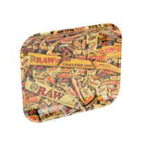 RAW® - Mixed Items Rolling Tray Metal Large (MSRP $20.00)