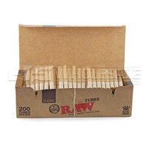 RAW - King Size Empty Tubes - Box of 200 (MSRP $5.00)