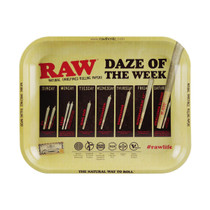 RAW® - Large Metal Rolling Tray - Daze of the Week (MSRP $20.00)