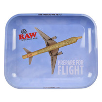 RAW® - Metal Rolling Tray Prepare For Flight - Large (MSRP $20.00)
