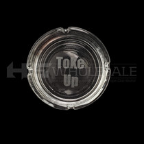 Ash Tray Clear With Engraving (MSRP $5.00)