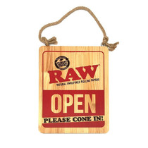 RAW® - Wood Sign Open Please Cone In (MSRP $15.00)
