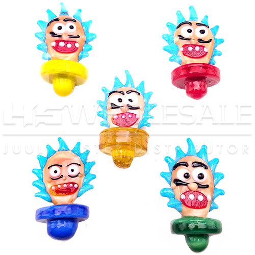 Assorted Color Character Face Carb Cap - 5 Pack (MSRP $10.00ea)