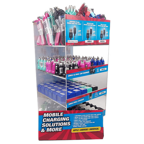 PowerXcel - Cell Phone Accessories Display of 222 - Assorted (MSRP $5.00-$15.00ea)