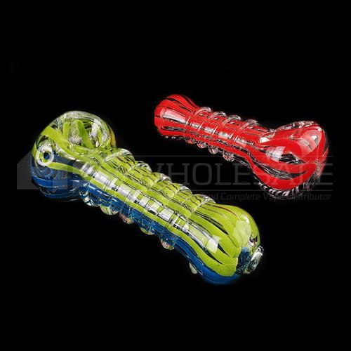 """3.25"""" Multi Rim Spoon Hand Pipe - 2 Pack (MSRP $20.00ea)"""