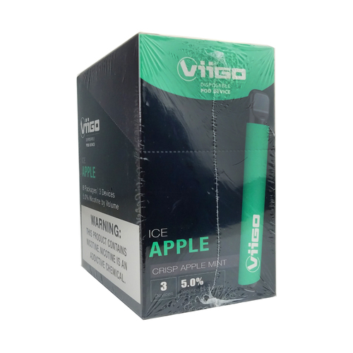 Viigo - Disposable 1.6ml 5% 3 Pack - Display of 8 (MSRP $14.99ea)