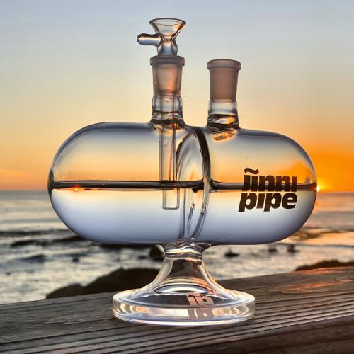 "Jinni Pipe - 7"" Infinity Gravity Water Pipe (MSRP $129.99)"