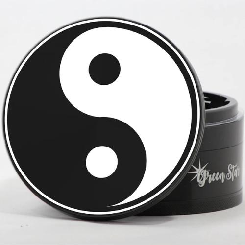 "4 Piece 4"" Yin Yang Design Aluminum Jumbo Grinders By Green Star *Drop Ship* (MSRP $59.99)"
