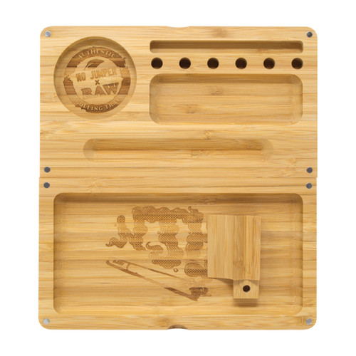 RAW® X No Jumper - Limited Edition Bamboo Rolling Tray (MSRP $50.00)