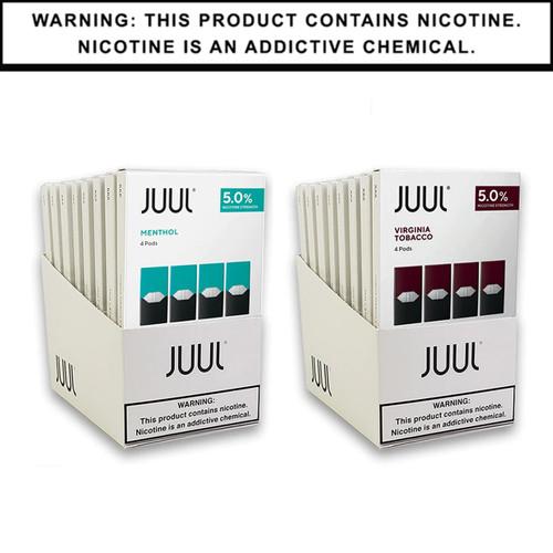 JUUL Pods 5% 4-Pack Non-Flavor | Display of 8 (MSRP $15.99ea)
