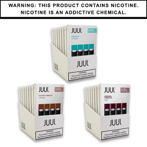 JUUL Pods 3% 4-Pack | Display of 8 (MSRP $15.99ea)