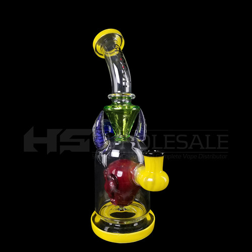 Cheech Glass - Red Monster Horn Rig Water Pipe (MSRP $200.00)