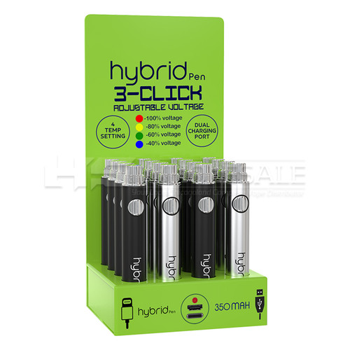 Hybrid Pen 16ct 350mah Battery Display with iPhone Charger Option (MSRP $16.00ea)