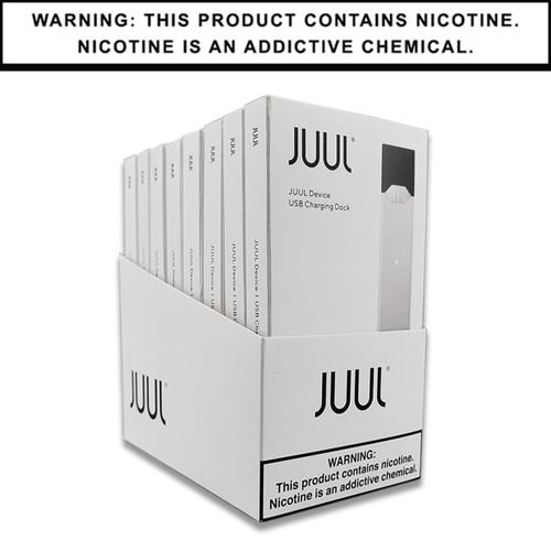 JUUL Basic Kit | Silver | Display of 8 (MSRP $9.99ea)