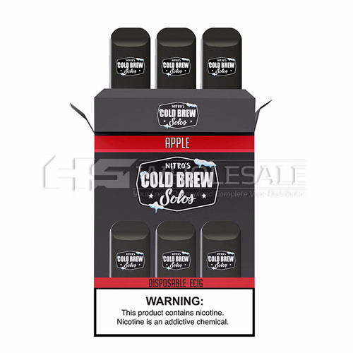 Nitro's Cold Brew Solos Disposable E-Cig 300 Puffs (3 Pack) (Case of 5) *Drop Ship* (MSRP $19.99)