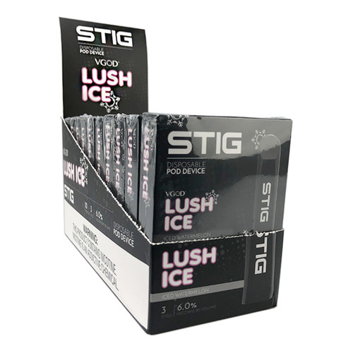 STIG | 1.2ml 6% Disposable Pod System 3-Pack | Display of 10 (MSRP $19.99ea)