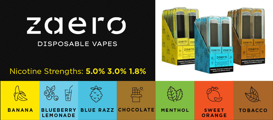 Wholesale Zaero Vape Disposables